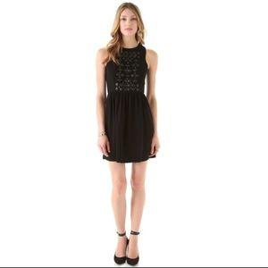 Tibi Black Cinta Beaded Dress